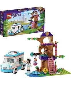 LEGO 41445 Friends Ambulancia de la Clínica Veterinaria Coche de Juguete, Playset con Mini Muñecas Olivia y Emma