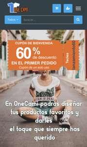 Camisetas personalizables con 60% de descuento