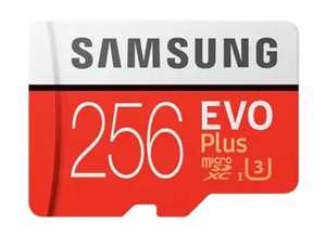 Tarjeta MicroSD - Samsung EVO Plus 256 GB, 100MB/s lectura, 90 MB/s escritura, Clase 10