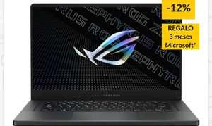 Portátil Gaming ASUS Rog Zephyrus G15 GA503QM-HQ008T (AMD Ryzen 7 5800HS - NVIDIA GeForce RTX 3060 - RAM: 16 GB - 1 TB SSD - 15.6'')