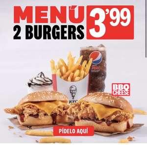 Menú de 2 burgers en KFC