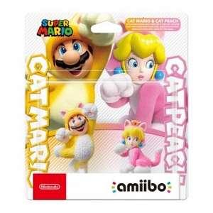 Figura Amiibo Mario Felino y Peach Felina