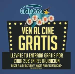 Cine gratis con tu compra - Centro Comercial Gran Casa en Zaragoza