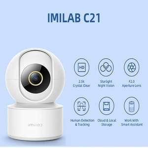 Cámara inteligente de seguridad CCTV C21 2,5 K, HD, 4MP, Wifi, detección de llanto de bebé, funciona con la aplicación IMILAB