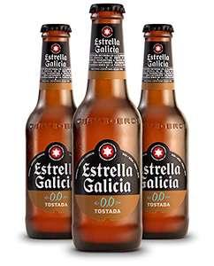 Estrella Galicia 0,0 Tostada Cerveza - Pack de 24 botellines x 250 ml - Total: 6 L.