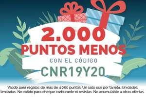 TravelClub 2000 puntos menos para regalos de +4000