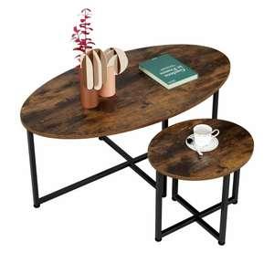 Juego de 2 mesa centro   Metal y madera