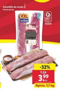 Solomillo de Cerdo 1'1 kg por solo 3'99€ y otras ofertas en carne (Solo en tienda Lidl)