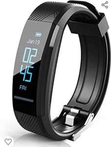 Pulsera de fitness,monitor de frecuencia cardíaca, IP67, reloj inteligente, rastreador de actividad, SMS, Whatsapp, alarma de vibración