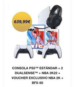 PS5 + 2 Mandos dualsenses + NBA 2K22 desde App