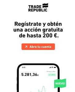Regalo de una acción de valor menor a 200€ al registrarse en TradeRepublic