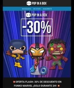 Oferta Flash 30% De descuento en Funko Pop Marvel ¡SOLO DURANTE 2H!