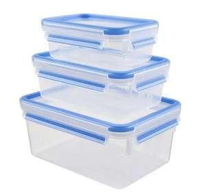 3x2 Tuppers plástico (9 uds en total)