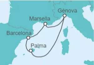Crucero 6 días pensión completa y cambio fecha Francia Italia España en el MSC Seaview desde Barcelona salidas hasta verano 2022 tasa incl.