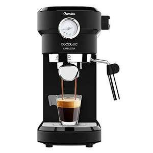 Cecotec Cafelizzia 790 Black Pro - Cafetera para Espressos y Cappuccino con Manometro, 1350 W,