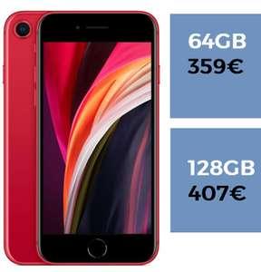 iPhone SE en color rojo por 359€ versión de 64GB y por 407€ 128GB