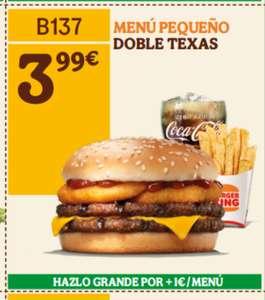 Menú pequeño doble texas burger king bk