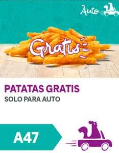 Patatas gratis solo para auto popeyes (Pedido mínimo 5€)
