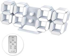 Reloj Despertador Digital 3D Ajustable 12/24 Horas Pantalla de Fecha/Temperatura