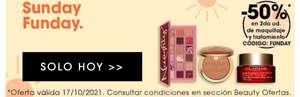 En Sephora -50%* en la segunda unidad de maquillaje y tratamiento