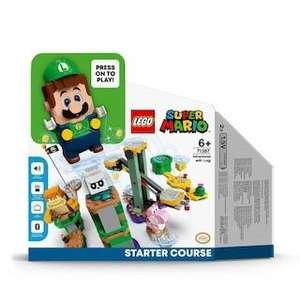 Aventuras con Luigi Pack Inicial, Juguete con Mini Figura Interactiva, Set de Construcción, 3x2