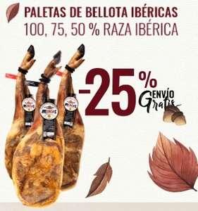 -25% en Paletas Ibéricas (100%, 75%, 50% de Bellota)