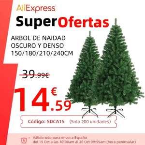 Árbol Navidad 150 centímetros solo 14.5€ (desde España)