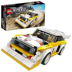 LEGO 76897 Speed Champions 1985 Audi Sport Quattro S1, Coche de Juguete para Construir con Mini Figura de Piloto