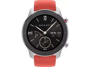 "Smartwatch - AmazFit GTR-42MM, 42 mm, Táctil 1.2"" AMOLED, 24 días autonomía, GPS, Bluetooth, Rojo"