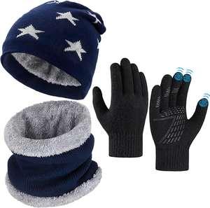 Gorro, bufanda y guantes (PARA NIÑ@S DE 5 A 10 AÑOS)