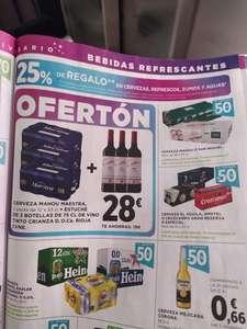 Chollazo 36 latas de Mahou maestra + 3 botellas de CUNE +25% de regalo