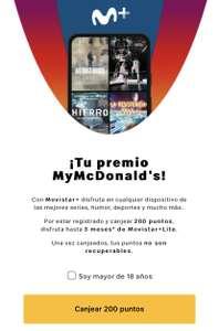 Vuelve Mcdonald's + Movistar Lite 3 meses + Audible 2 meses