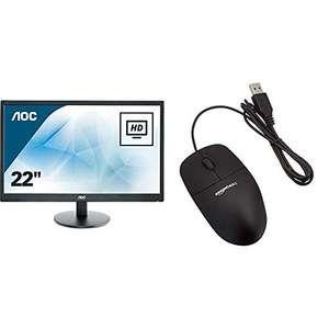 """Monitor AOC 22"""" FHD + ratón"""