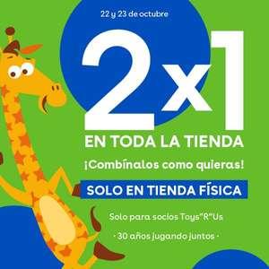 2x1 en toysrus , solo en tienda física, los días 22 y 23 de octubre