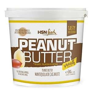 Mantequilla de Cacahuete de HSN   Textura Suave y Cremosa - Peanut Butter Smooth - 100% Natural   Apto Vegetariano, Sin grasa de palma, Sin