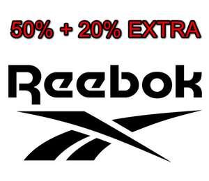 REEBOK: 50% + 20% DTO. EXTRA
