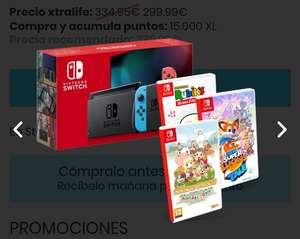 Nintendo Switch más 3 juegos
