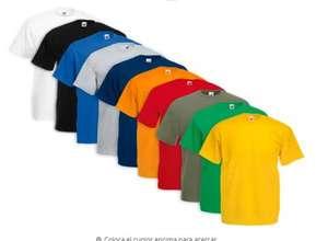 Pack de 10 camisetas de Fruit of The Loom en Blanco (24,49€) o en colores (29,49 €)
