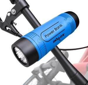 Linterna altavoz y powerbank para bicicleta