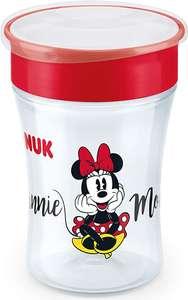 NUK Disney Magic Cup vaso antiderrame bebe, borde antiderrame de 360 °, 8+ meses, sin-BPA, 230 ml, Minnie Mouse o Mickey Mousse