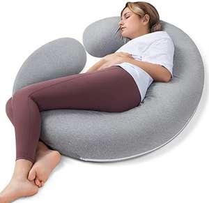 Almohada Embarazada para Dormir y Mejorar Sueño, Desmontable y Lavable, para Espalda Lumbar,Barriga, Caderas, Piernas...
