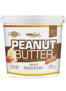 Mantequilla de Cacahuete de HSN   Textura Crujiente - Peanut Butter Crunchy - 100% Natural   Apto Vegetariano, Sin grasa de palma, 1000g