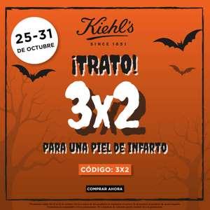 Del 25 al 31 de octubre promoción 3x2 en productos de cosmetica kiehl's