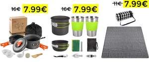 Varios sets para camping por 7.99€