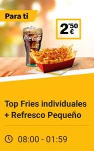 Top Fries individuales + Refresco Pequeño