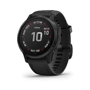 Garmin Fenix 6S Pro - Reloj GPS multideporte con mapas, música, frecuencia cardíaca y sensores, Negro con correa negra