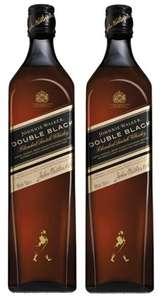 2 Botellas de JOHNNIE WALKER Double Black whisky escocés botella 70 cl