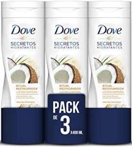 Dove Loción con Aceite de Coco y Almendras - 3 Paquetes de 400 ml - Total: 1200 ml