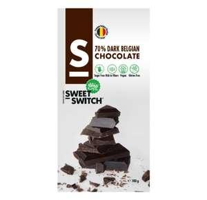 Muestra GRATIS chocolate belga 70% negro Sin gluten y Vegano