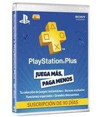 Sony Tarjeta playstation plus card 90
